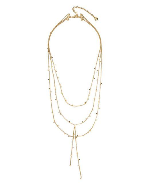 BaubleBar Metallic Evros Layered Necklace