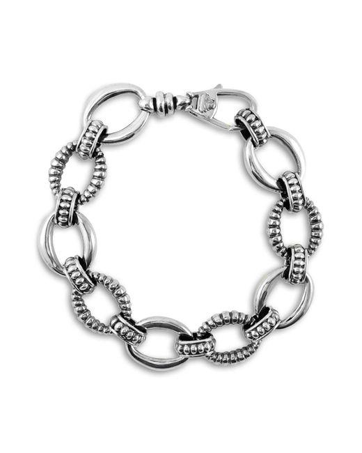 Lagos - Metallic Oval Link Sterling Silver Bracelet - Lyst