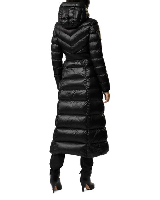 Mackage Calina Maxi Lightweight Down Coat With Sash Belt In Black - Women