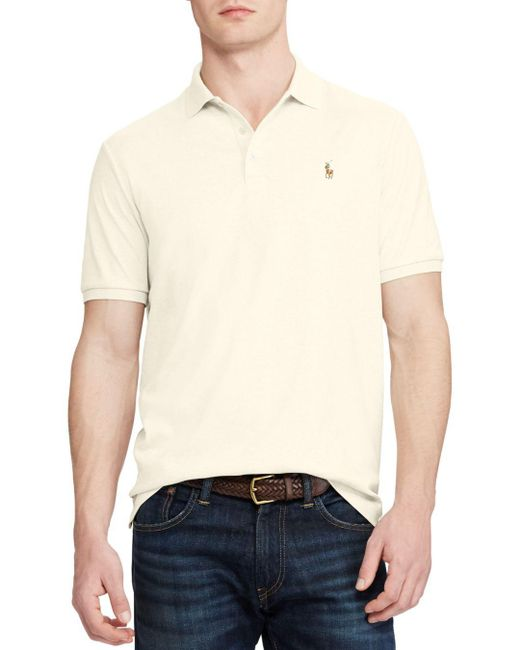 Polo Ralph Lauren - Natural Classic Fit Soft Touch Polo Shirt for Men - Lyst