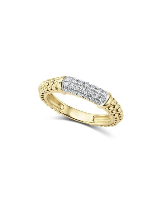 Lagos - Metallic Caviar Gold Collection 18k Gold & Diamond Ring - Lyst