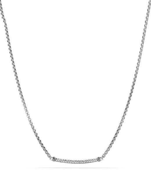 David Yurman - Metallic Petite Pavé Metro Chain Necklace With Diamonds - Lyst