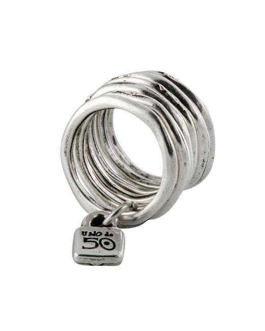 Uno De 50   Metallic Stacked Lock Ring   Lyst