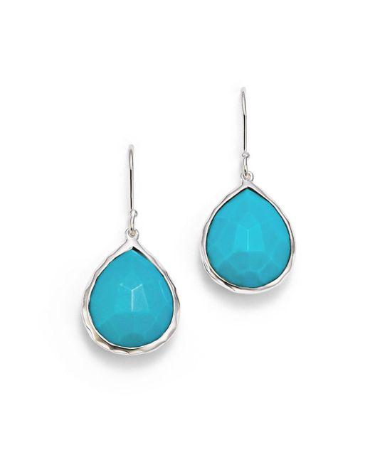 Ippolita Blue Small Turquoise Teardrop Earrings