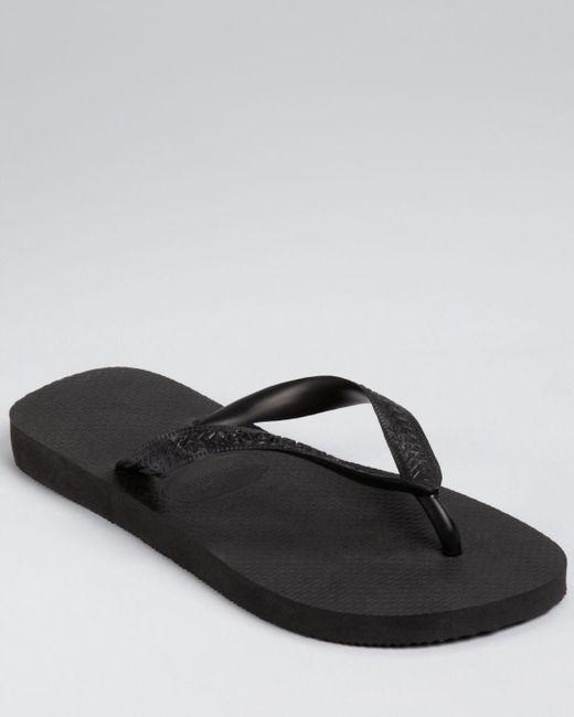 Havaianas - Black Men's Top Solid Sandals for Men - Lyst