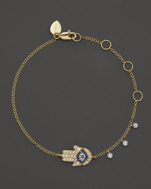 Meira T Metallic 14k Yellow Gold Hamsa Bracelet