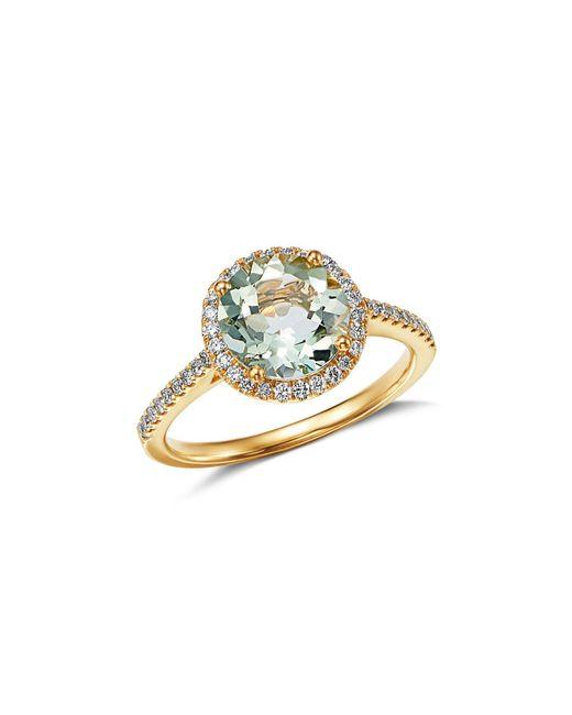 Kiki McDonough - Metallic 18k Yellow Gold Grace Round Green Amethyst & Diamond Ring - Lyst