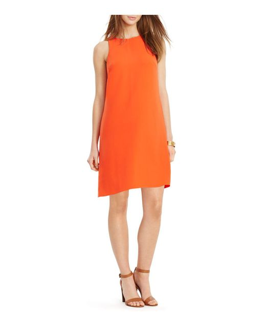 Ralph Lauren | Orange Lauren Shift Dress | Lyst