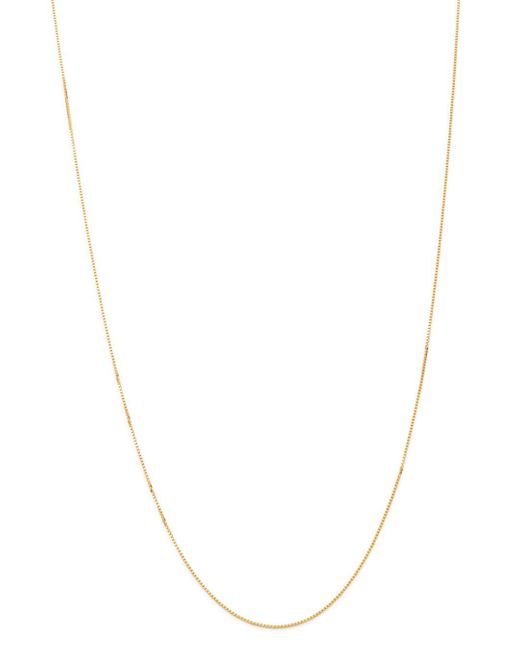 Bloomingdale's Metallic Box Link Chain Necklace In 14k Yellow Gold