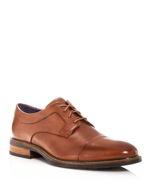 Cole Haan Brown Men's Hartsfield Leather Cap Toe Oxfords for men