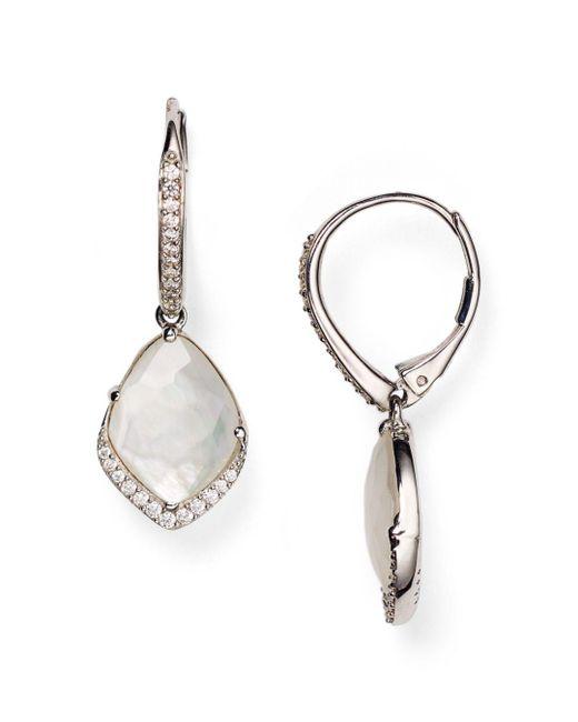 Nadri - Metallic Pavé Mother-of-pearl Drop Earrings - Lyst