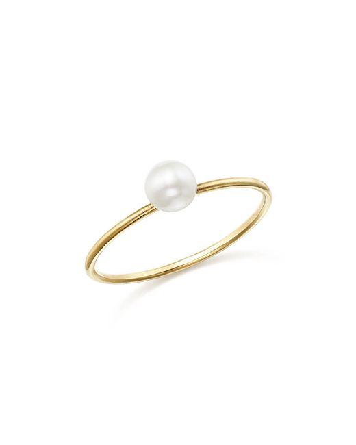 Zoe Chicco - Metallic 14k Yellow Gold Bezel Diamond Ring - Lyst