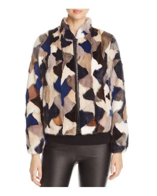 Maximilian | Multicolor Mink Fur Jacket | Lyst