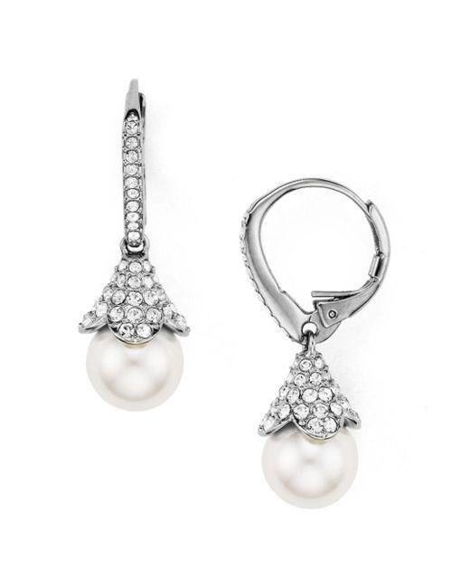 Nadri - Metallic Floral Drop Earrings - Lyst