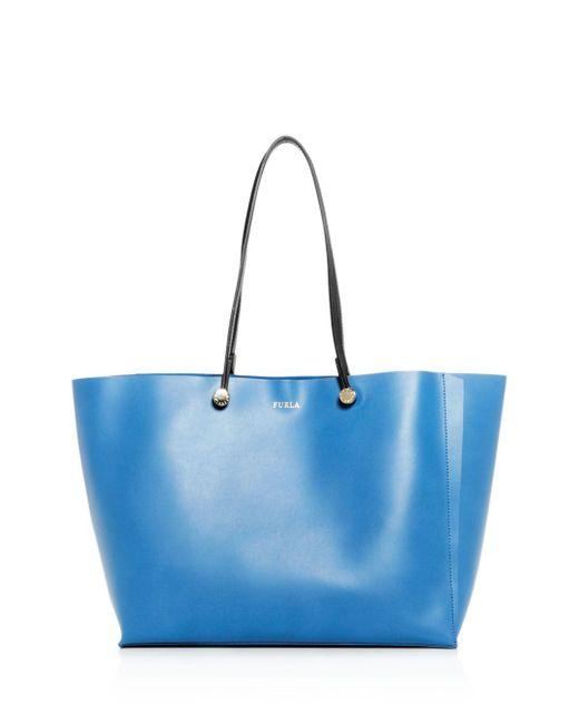 Furla - Blue Eden Medium Leather Tote - Lyst