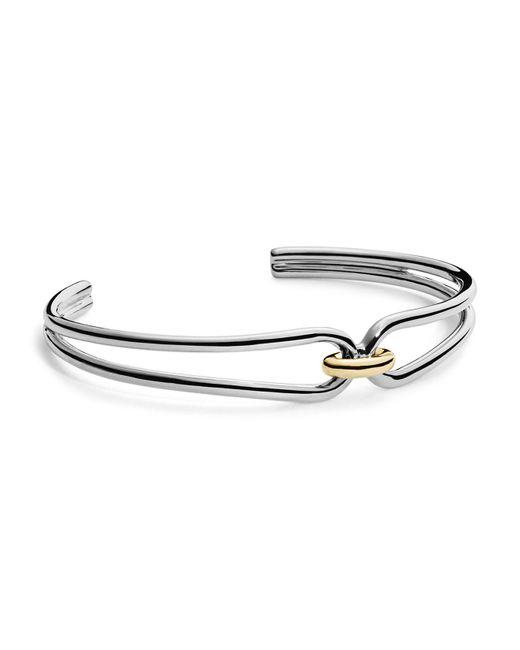 Shinola - Metallic 14k Yellow Gold & Sterling Silver Lug Cuff Bracelet - Lyst