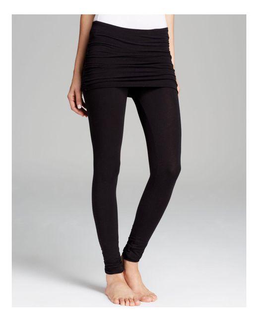 Splendid | Black Skirt Leggings - Fold Over | Lyst