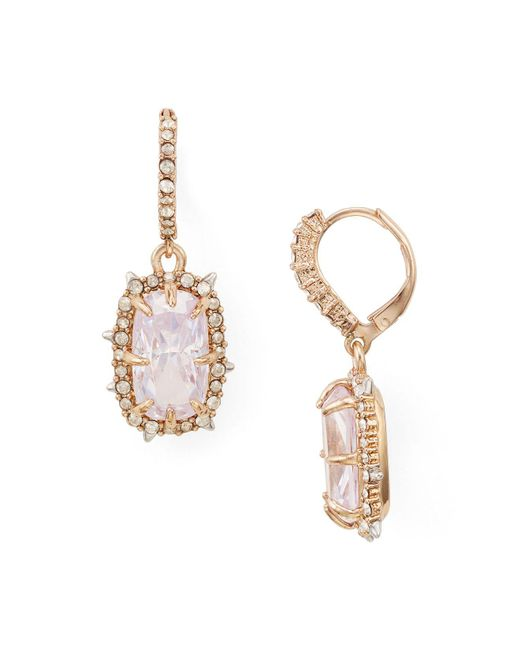 Alexis Bittar | Multicolor Crystal Leverback Drop Earrings | Lyst