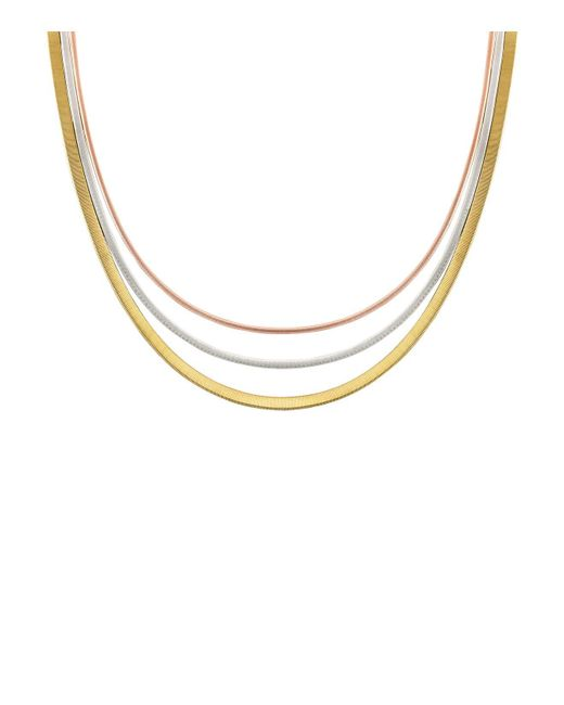 Marco Bicego | Metallic Rose & White Gold Goa Collar Necklace | Lyst
