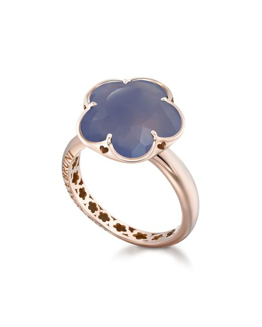 Pasquale Bruni | Blue 18k Rose Gold Floral Chalcedony Ring | Lyst