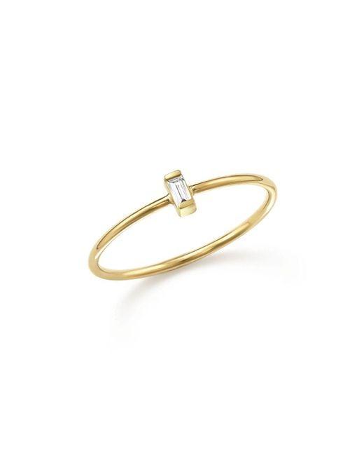 Zoe Chicco | Metallic 14k Yellow Gold Baguette Diamond Ring | Lyst