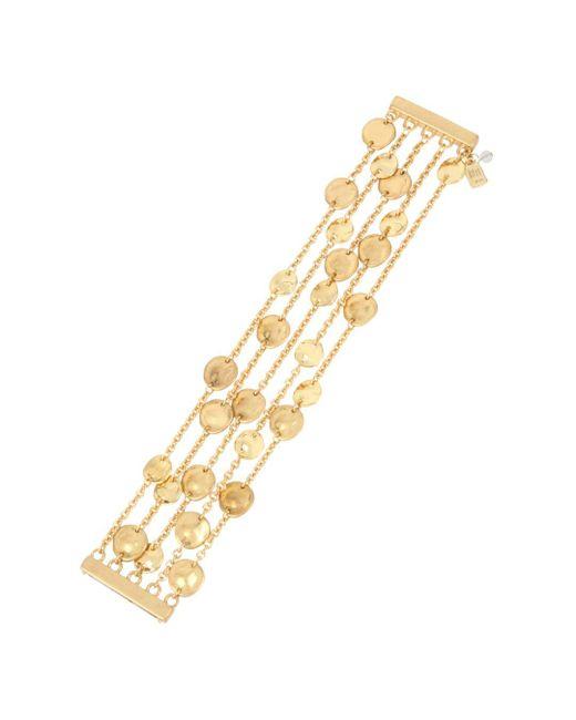 Robert Lee Morris Metallic Multi - Row Disc Bracelet