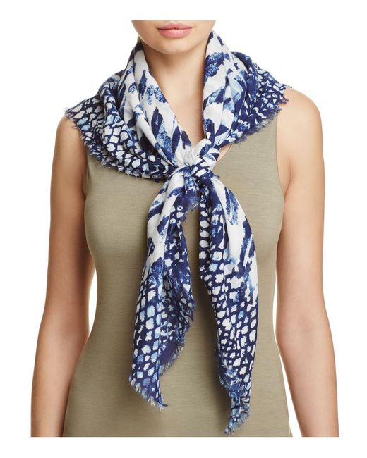 Fraas | Blue Multi Animal Square Scarf | Lyst