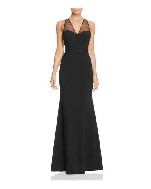 JS Collections - Black Illusion Cutout Back Gown - Lyst