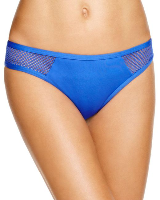 Carmen Marc Valvo - Blue Aloha Sunrise Mesh Hipster Bikini Bottom - Lyst