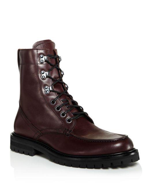 Aquatalia Brown Ira Leather Boots for men
