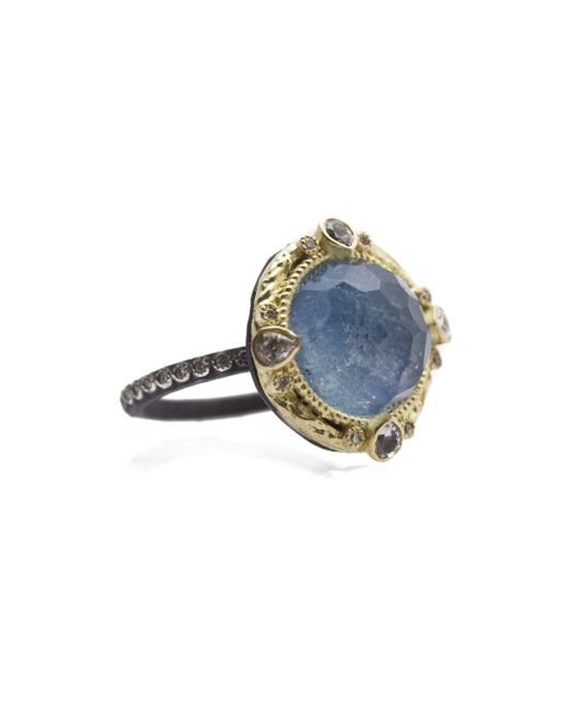 Armenta - Blue Diamond And White Sapphire Ring - Lyst