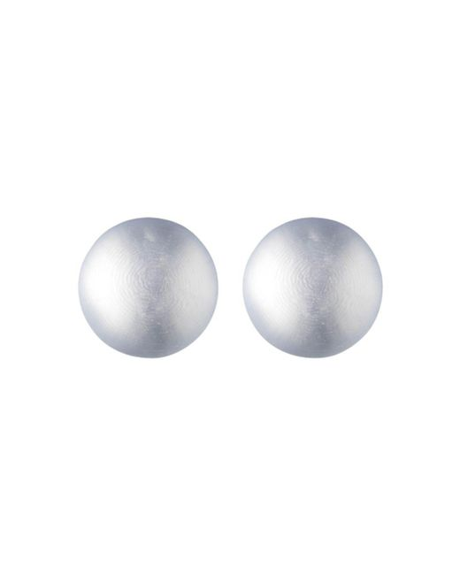 Alexis Bittar - Gray Medium Dome Lucite Clip-on Earrings - Lyst