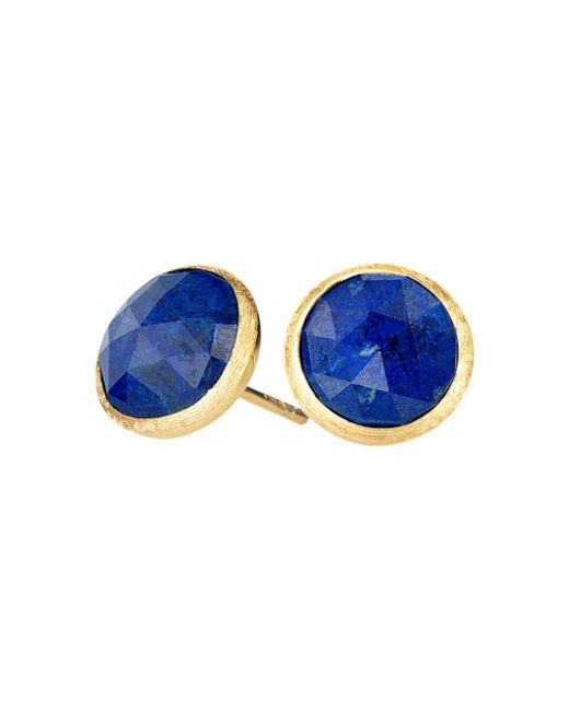 Marco Bicego Blue 18k Yellow Gold Lapis Stud Earrings