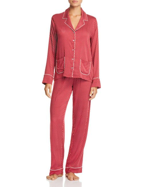Splendid - Red Piped Pajama Set - Lyst