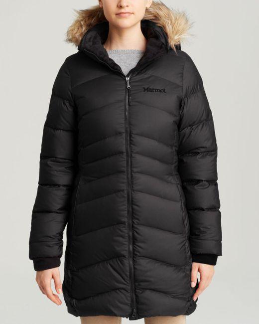 Marmot Black Coat - Montreal Hooded
