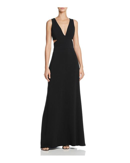 Laundry by Shelli Segal - Black Plunging Cutout Gown - Lyst