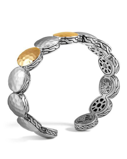 John Hardy - Metallic Sterling Silver And 18k Bonded Gold Palu Three Station Flex Cuff, 12.5mm - Lyst