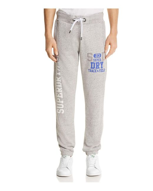 Superdry - Gray Tackster Lite Jogger Sweatpants for Men - Lyst