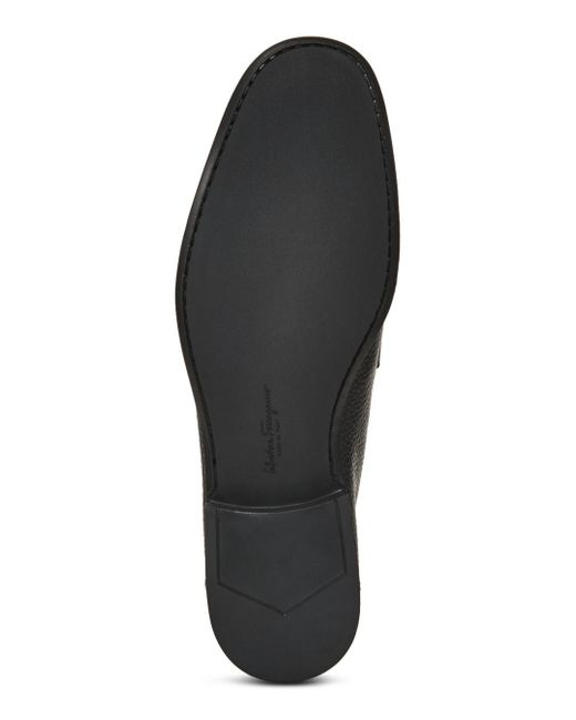 Ferragamo Black Grandioso Loafers for men