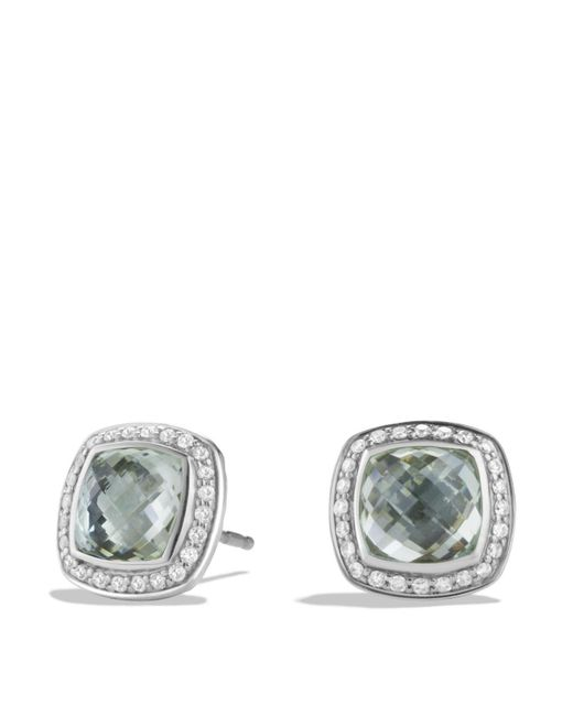 David Yurman | Green Albion Earrings With Prasiolite And Diamonds | Lyst