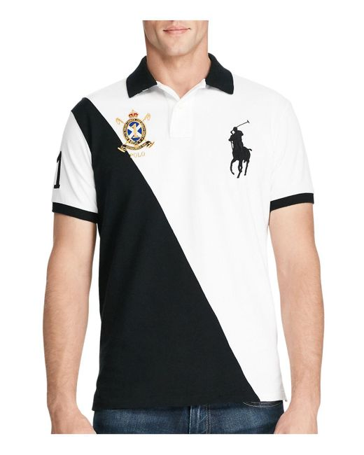 Polo Ralph Lauren | Black Big Pony Slim Fit Polo Shirt for Men | Lyst