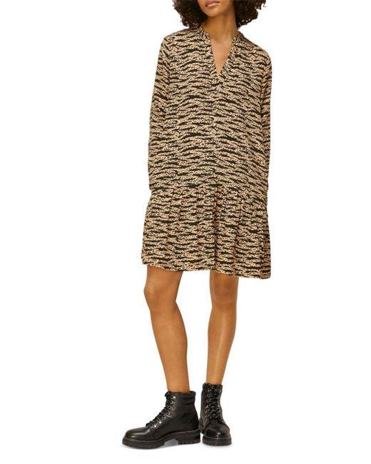 Whistles Multicolor Tiger & Leopard Print Dress