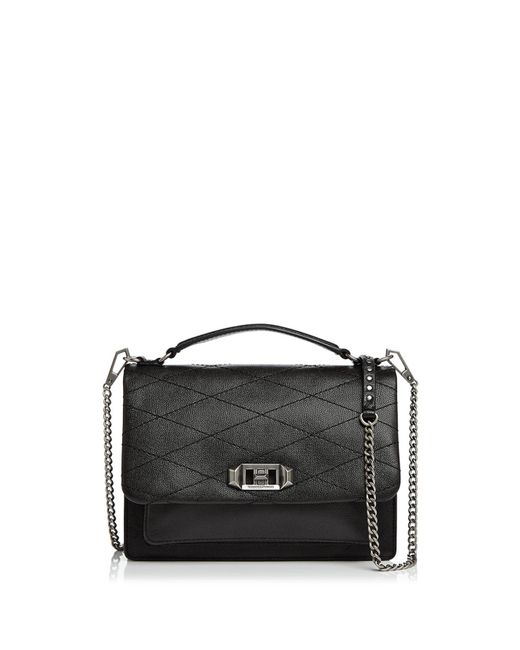 Rebecca Minkoff   Black Je T'aime Medium Leather Crossbody   Lyst