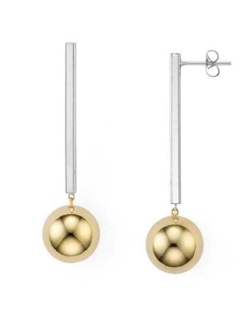 Argento Vivo - Metallic Two - Tone Linear Earrings - Lyst