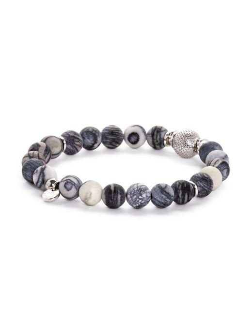 Tateossian - Metallic Rhodium Mesh Bead Bracelet - Lyst