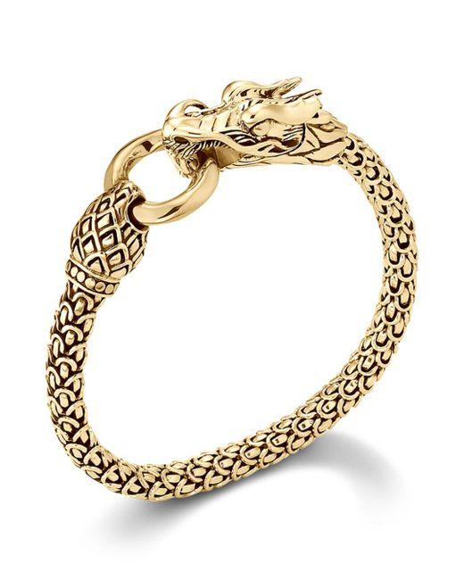 John Hardy - Metallic Naga 18k Yellow Gold Dragon Bracelet With Gold Ring - Lyst