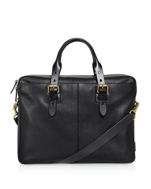 Cole Haan - Black Brayton Pebbled Leather Briefcase for Men - Lyst