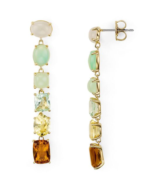 Nadri - Metallic Palma Linear Earrings - Lyst