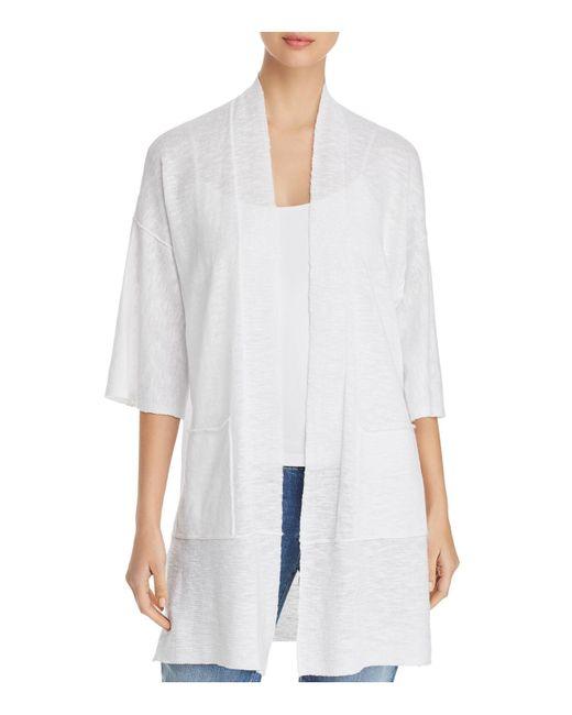 Eileen Fisher - White Kimono Cardigan - Lyst