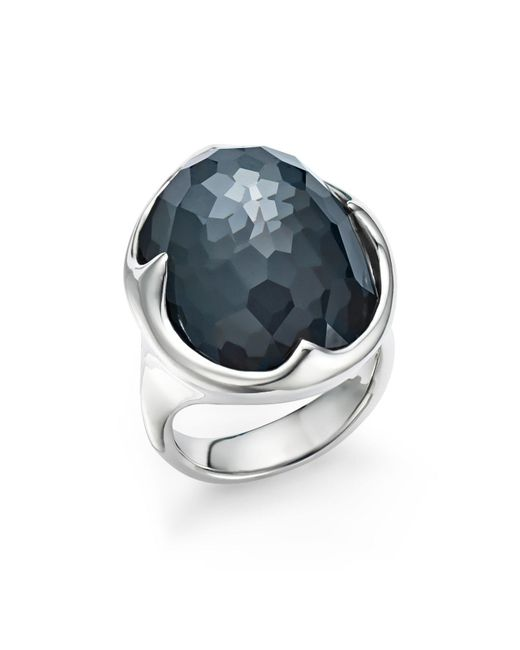 Ippolita | Metallic Sterling Silver Rock Candy® Clear Quartz And Hematite Doublet Prince Ring | Lyst